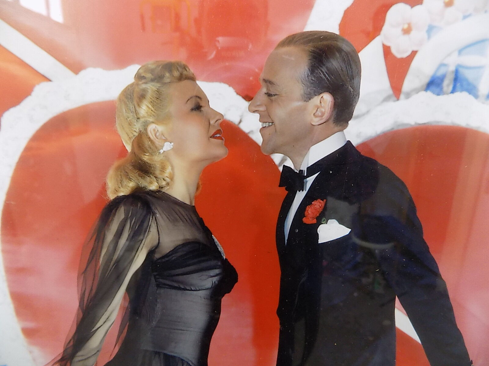 Framed Colour Photographic Print Fred Astaire Ginger Rogers Photo Print Cinema Molly Dog Antiques
